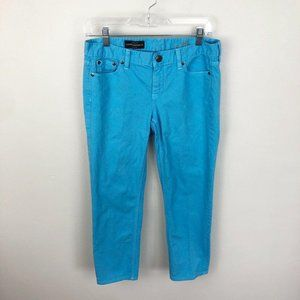 J Crew Cropped Matchstick Jeans Blue Mid Rise 29